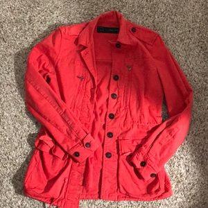 Red Zara Utility Jacket Size XS